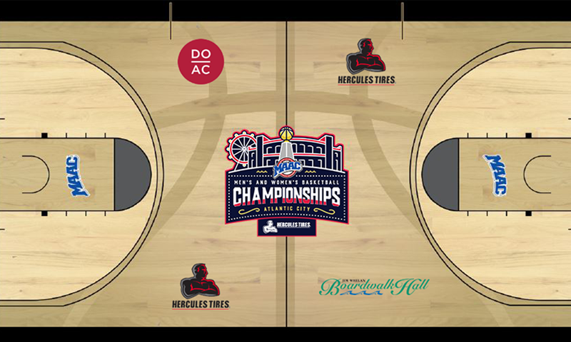 Maac Unveils Basketball Court Design For March 10 14 League Championships In Atlantic City Metro Atlantic Athletic Conference